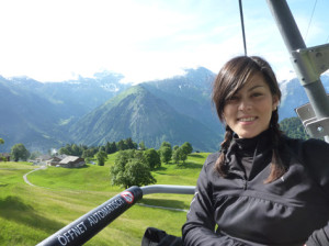...in the Swiss Alps